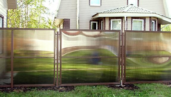 Сделать забор из поликарбоната 50