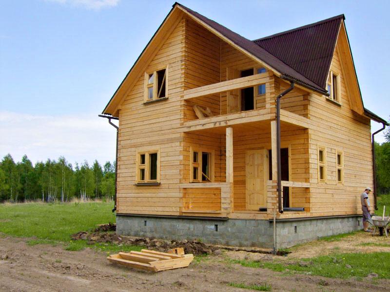 Строительство домов из бруса в иркутске фото